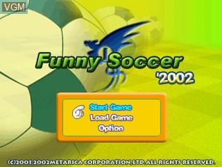 Image de l'ecran titre du jeu Funny Soccer 2002 sur GamePark Holdings Game Park 32