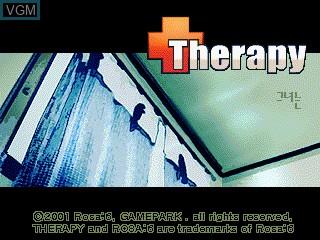 Image de l'ecran titre du jeu Therapy sur GamePark Holdings Game Park 32
