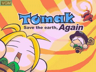 Image de l'ecran titre du jeu Tomak - Save the Earth, Again sur GamePark Holdings Game Park 32
