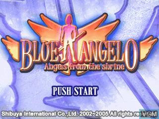 Image de l'ecran titre du jeu Blue Angelo - Angels from the Shrine sur GamePark Holdings Game Park 32