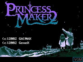 Image de l'ecran titre du jeu Princess Maker 2 sur GamePark Holdings Game Park 32