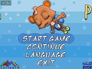 Image de l'ecran titre du jeu Super Plusha sur GamePark Holdings Game Park 32