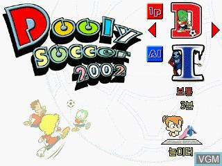 Image du menu du jeu Dooly Soccer 2002 sur GamePark Holdings Game Park 32
