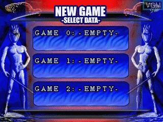 Image du menu du jeu Blue Angelo - Angels from the Shrine sur GamePark Holdings Game Park 32