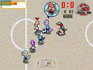 Image in-game du jeu Dooly Soccer 2002 sur GamePark Holdings Game Park 32
