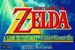 Image de l'ecran titre du jeu Legend of Zelda, The - A Link to the Past & Four Swords sur Nintendo GameBoy Advance