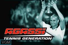 Image de l'ecran titre du jeu Agassi Tennis Generation sur Nintendo GameBoy Advance