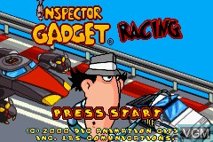 Image de l'ecran titre du jeu Inspector Gadget Racing sur Nintendo GameBoy Advance
