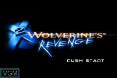 Image de l'ecran titre du jeu X2 - Wolverine's Revenge sur Nintendo GameBoy Advance