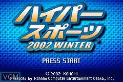 Image de l'ecran titre du jeu Hyper Sports 2002 Winter sur Nintendo GameBoy Advance