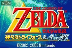 Image de l'ecran titre du jeu Zelda no Densetsu - Kamigami no Triforce & 4tsu no Tsurugi sur Nintendo GameBoy Advance