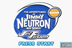 Image de l'ecran titre du jeu Adventures of Jimmy Neutron Boy Genius, The - Jet Fusion sur Nintendo GameBoy Advance