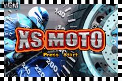 Image de l'ecran titre du jeu XS Moto sur Nintendo GameBoy Advance