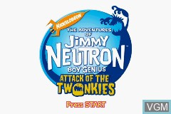 Image de l'ecran titre du jeu Adventures of Jimmy Neutron Boy Genius, The - Attack of the Twonkies sur Nintendo GameBoy Advance