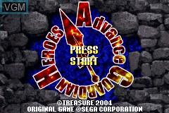 Image de l'ecran titre du jeu Advance Guardian Heroes sur Nintendo GameBoy Advance
