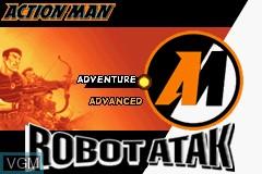 Image de l'ecran titre du jeu Action Man - Robot Atak sur Nintendo GameBoy Advance