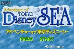 Image de l'ecran titre du jeu Adventure of Tokyo Disney Sea sur Nintendo GameBoy Advance