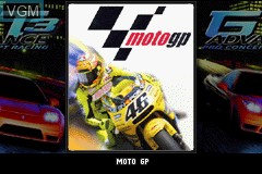 Image de l'ecran titre du jeu 2 Games in 1 - GT Advance 3 & Moto GP sur Nintendo GameBoy Advance