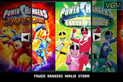 Image de l'ecran titre du jeu 2 Games in 1 - Power Rangers - Ninja Storm & Power Rangers - Time Force sur Nintendo GameBoy Advance
