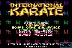 Image de l'ecran titre du jeu International Karate Advanced sur Nintendo GameBoy Advance