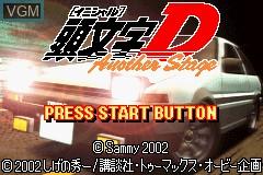 Image de l'ecran titre du jeu Initial D - Another Stage sur Nintendo GameBoy Advance