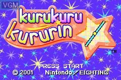 Image de l'ecran titre du jeu Kurukuru Kururin sur Nintendo GameBoy Advance