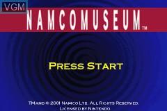 Image de l'ecran titre du jeu Namco Museum sur Nintendo GameBoy Advance