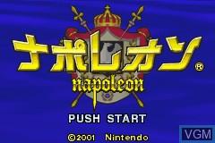 Image de l'ecran titre du jeu Napoleon sur Nintendo GameBoy Advance