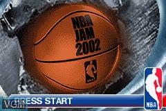 Image de l'ecran titre du jeu NBA Jam 2002 sur Nintendo GameBoy Advance