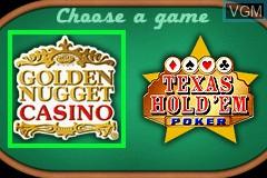 Image de l'ecran titre du jeu 2-in-1 - Golden Nugget Casino & Texas Hold'em Poker sur Nintendo GameBoy Advance