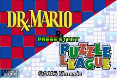 Image de l'ecran titre du jeu 2 Games in 1 - Dr. Mario & Puzzle League sur Nintendo GameBoy Advance