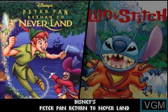 Image de l'ecran titre du jeu 2 Games in 1 - Peter Pan & Lilo and Stitch 2 sur Nintendo GameBoy Advance