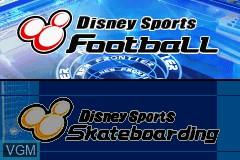 Image de l'ecran titre du jeu 2-in-1 - Disney's Sports Pack - Football & SkateBoarding sur Nintendo GameBoy Advance