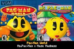 Image de l'ecran titre du jeu 2-in-1 - Pac-Man Gamepack - Pac-Man World & Ms. Pac-Man - Maze Madness sur Nintendo GameBoy Advance