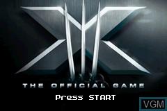 Image de l'ecran titre du jeu X-Men - The Official Game sur Nintendo GameBoy Advance