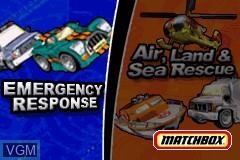 Image de l'ecran titre du jeu 2-in-1 - Matchbox Missions sur Nintendo GameBoy Advance