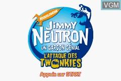 Image de l'ecran titre du jeu Jimmy Neutron un Garcon Genial - L'Attaque des Twonkies sur Nintendo GameBoy Advance