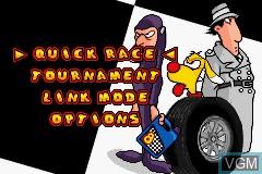 Image du menu du jeu Inspector Gadget Racing sur Nintendo GameBoy Advance