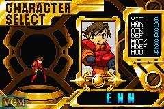 Image du menu du jeu Advance Guardian Heroes sur Nintendo GameBoy Advance