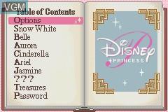 Image du menu du jeu 2 Games in 1 - Disney's Koenig der Loewen & Disney's Prinzessinnen sur Nintendo GameBoy Advance
