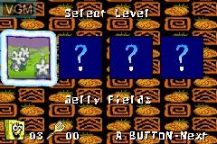 Image du menu du jeu 2 Games in 1 - SpongeBob SquarePants - SuperSponge & Battle for Bikini Bottom sur Nintendo GameBoy Advance