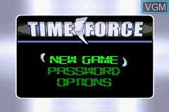 Image du menu du jeu 2 Games in 1 - Power Rangers - Ninja Storm & Power Rangers - Time Force sur Nintendo GameBoy Advance
