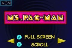 Image du menu du jeu Namco Museum sur Nintendo GameBoy Advance