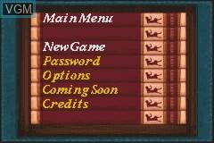 Image du menu du jeu Nancy Drew - Message in a Haunted Mansion sur Nintendo GameBoy Advance