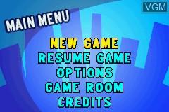 Image du menu du jeu 2-in-1 - Cartoon Network - Block Party & Cartoon Network - Speedway sur Nintendo GameBoy Advance