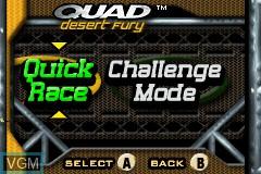 Image du menu du jeu 2-in-1 - Quad Desert Fury & Monster Trucks sur Nintendo GameBoy Advance
