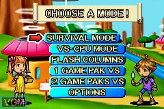 Image du menu du jeu 2 Games in 1 - Columns Crown & Chu Chu Rocket! sur Nintendo GameBoy Advance