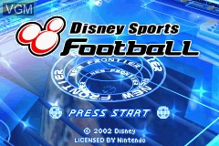 Image du menu du jeu 2-in-1 - Disney's Sports Pack - Football & SkateBoarding sur Nintendo GameBoy Advance
