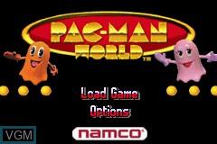 Image du menu du jeu 2-in-1 - Pac-Man Gamepack - Pac-Man World & Ms. Pac-Man - Maze Madness sur Nintendo GameBoy Advance