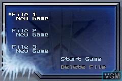 Image du menu du jeu X-Men - The Official Game sur Nintendo GameBoy Advance